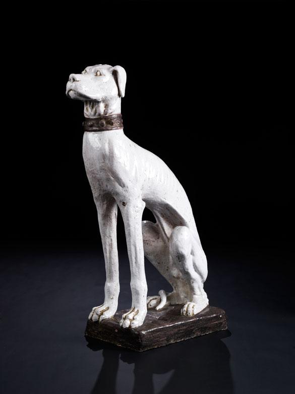 Jagdhund in Terrakotta