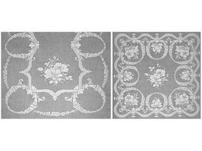 Detail images:  Prachtvolle Bankett-Tafelgarnitur mit Füllhörnern