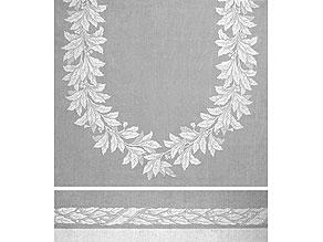 Detail images:  Großes Tafeltuch mit klassizistischem Lorbeeroval