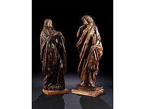 Detailabbildung:  Schnitzfigurenpaar: Johannes und Maria