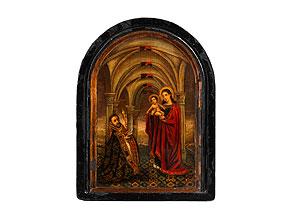 Detail images:  Tafelbild mit Darstellung der Anbetung der Heiligen Maria