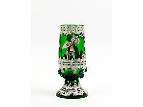 Detail images:  Historistischer Glaspokal von Anton Amros Egermann/ Heida