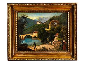 Detail images:  Bilderuhr mit Darstellung von Kufstein am Inn (?)