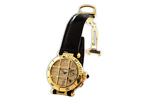 Detail images:  Herrenarmbanduhr, Fabrikat Cartier, Modell Pascha