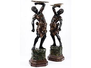 Detail images:  Paar Mohrenfiguren