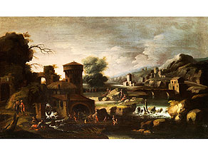 Detail images:  Italienischer Maler der Genueser Schule des 17. Jahrhunderts
