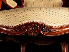 Detail images: Paar Louis XV-Sessel en cabriolet