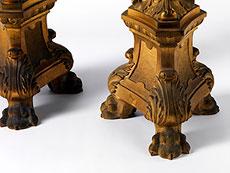 Detail images: Paar große Altarleuchter