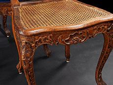 Detail images: Satz von sechs Louis XV-Stühlen