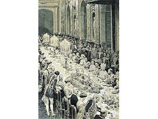 Detail images: Bankett-Tafeltuch aus dem ehemaligen Besitz Kaiser Wilhelm II., 1859 -1941