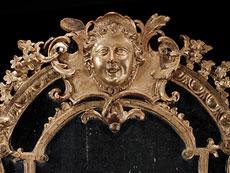 Detail images: Großer vergoldeter Régence-Spiegel
