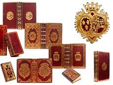 Detailabbildung: Prunkvolle Bibliothek mit 1067 Büchern des 18. Jahrhunderts