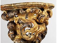 Detail images: Paar Rokoko-Wandkonsolen