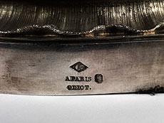 Detail images: Tischleuchter-Garnitur der französischen Silbermanufaktur Odiot (seit 1690)
