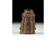 Detail images: Kleiner Benin-Königskopf in Bronze