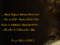 Detail images: Elisabeth Louise Vigée Le Brun, 1755 Paris - 1842 Louveciennes
