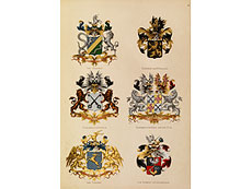 Detail images: Wappenbücher des niederländischen Adels