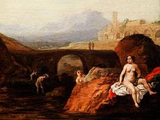 Detail images: Bartholomeus Breenbergh, um 1598 - um 1657 zug., Landschaftsmaler und Kupferstecher, bekannt für seine Ansichten von Ruinen und alten Denkmälern der Umgebung Roms