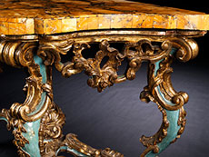 Detailabbildung: Paar bedeutende Wandkonsolen aus der Kollektion Seiner Exzellenz Cardinale Baggio
