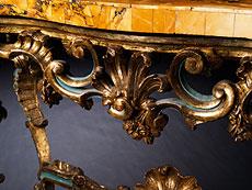 Detail images: Paar bedeutende Wandkonsolen aus der Kollektion Seiner Exzellenz Cardinale Baggio