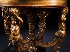Detailabbildung: Bedeutender historistischer Tisch, gestempelt D.P. Lepautre