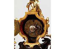 Detail images: Französische Louis XV-Kaminuhr mit Darstellung von Europa mit dem Stier