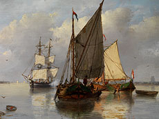Detail images: Petrus Jan Schotel, 1808 Doordrecht - 1865 Dresden