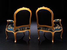 Detail images: Bedeutendes Paar Louis XV-Fauteuils von Philippe-Josephe Pluvinet