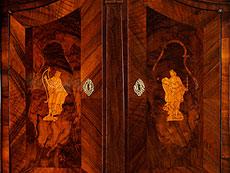 Detail images: Barocker Aufsatz-Schreibschrank