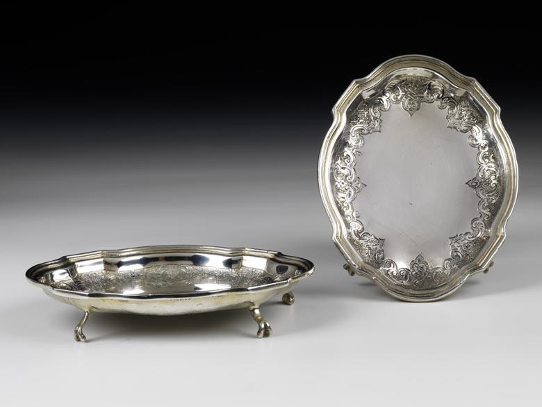 Paar Silberschalen