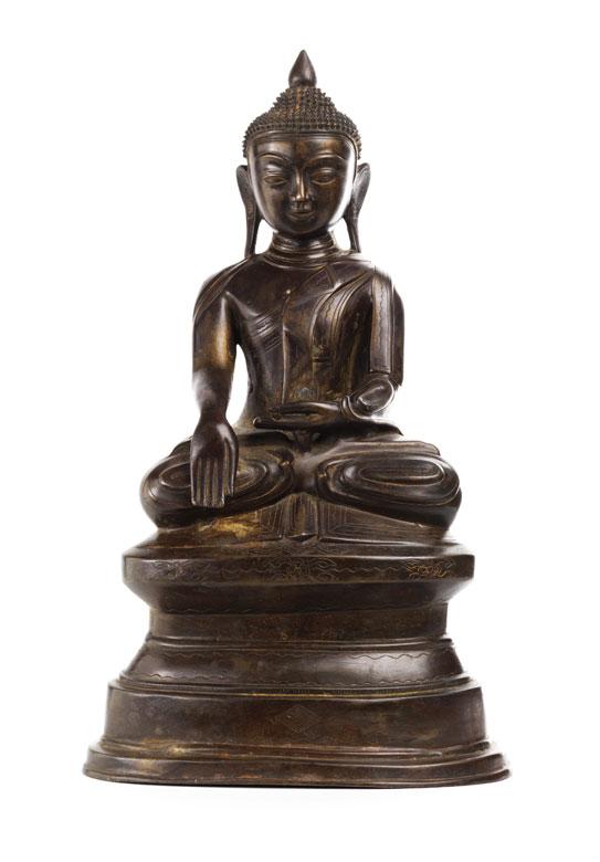 Sitzender Buddha in Bronze