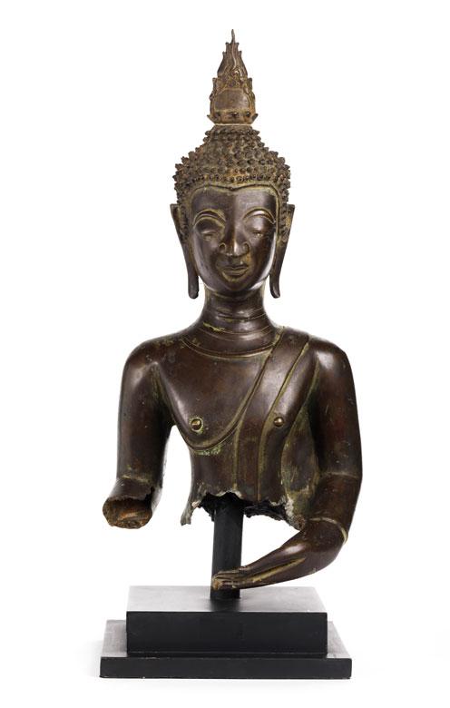 Bronzetorso einer Buddhafigur