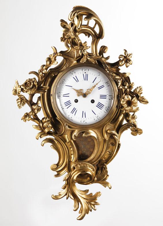 Kartelluhr im Louis XV-Stil