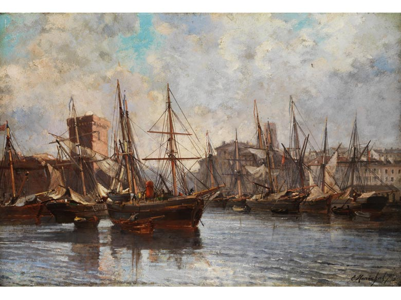 Emile-Raphael Marechal, Holländischer Marinemaler des 19. Jahrhunderts