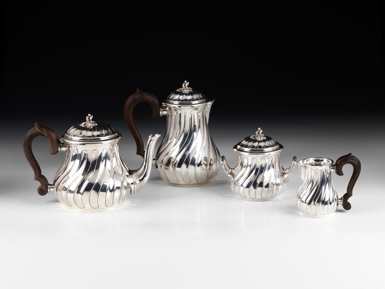 Silbernes Kaffee- und Teeset