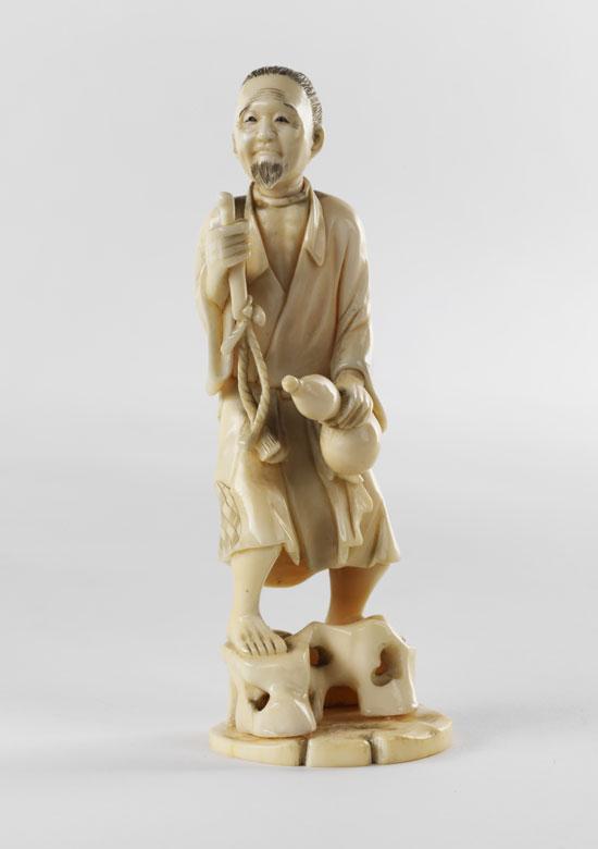 Japanische Elfenbein-Schnitzfigur