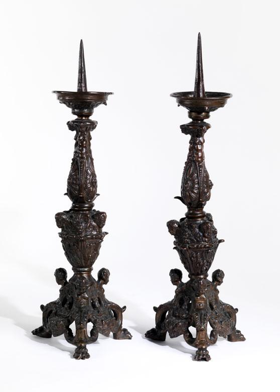 Paar venezianische Tischkerzenleuchter