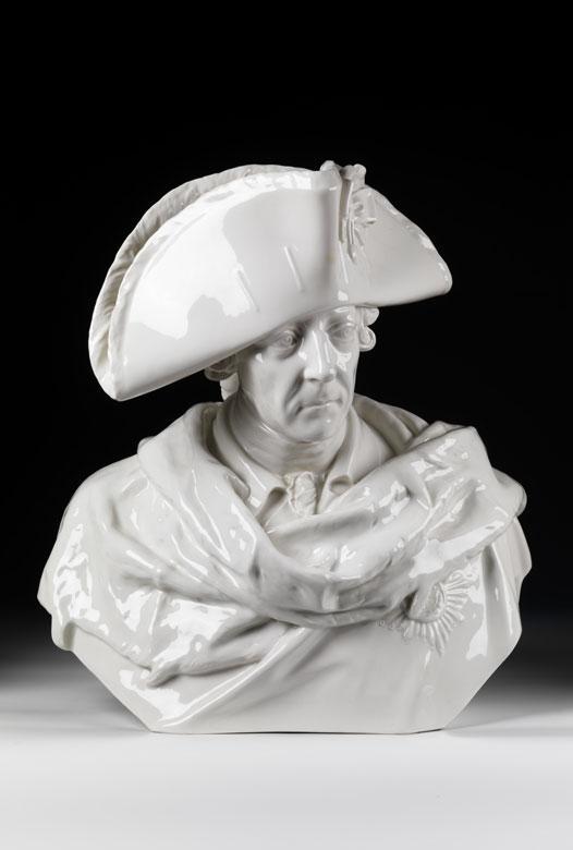 Lebensgroße Porzellanbüste Friedrichs des Großen