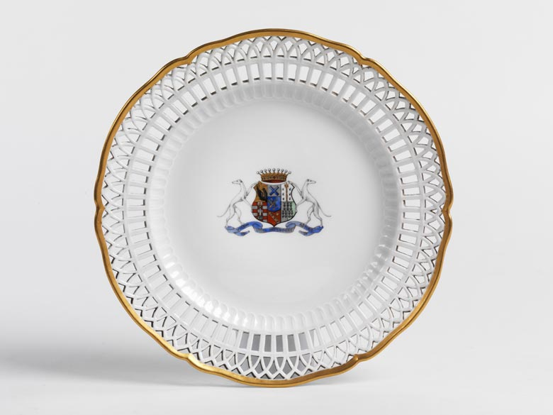 KPM-Teller mit Wappen der Grafen Tolstoi