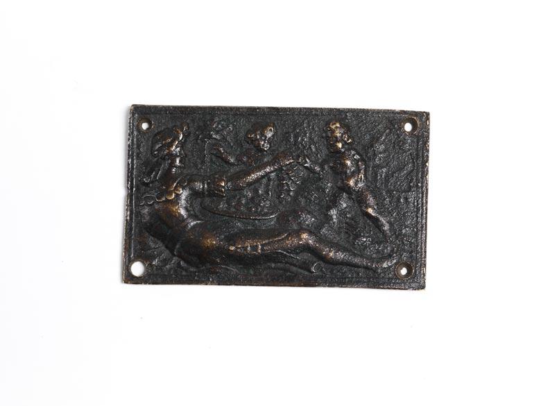 Kleine Bronzeplakette
