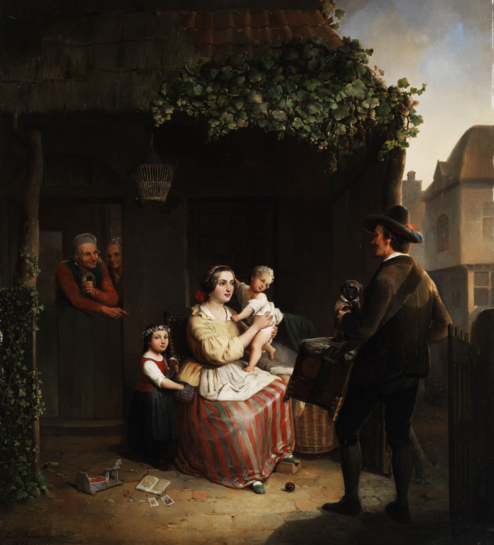 Paul Haesaert, 1813 Leuven - 1893 Werke seiner Hand in den Museen in Brüssel und Leuven