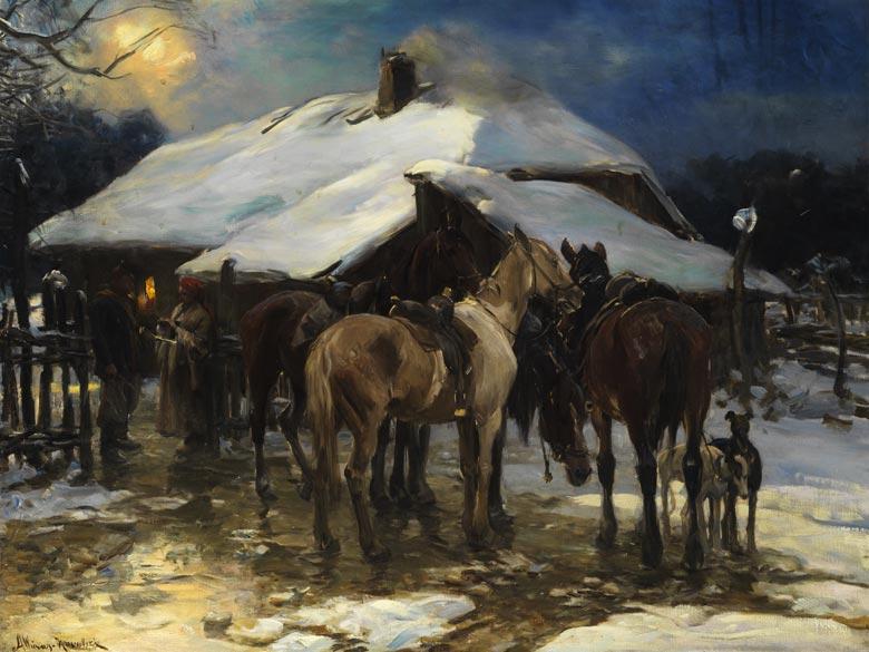 Alfred von Wierusz-Kowalski, 1849 Suwalki - 1915 München