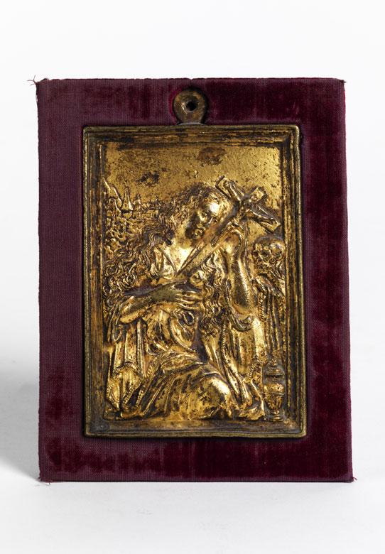 Relieftafel mit Darstellung der Maria Magdalena
