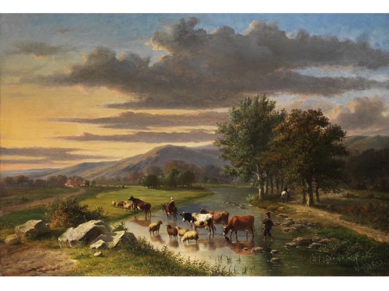 Eugène Verboeckhoven, 1799 - 1881, und Louis Pierre Verwee, 1807 - 1877