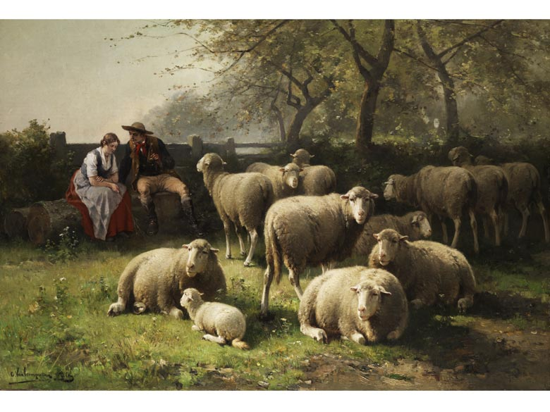 Jan David Col, 1822 - 1900, und Cornelis van Leemputten, 1841 - 1902
