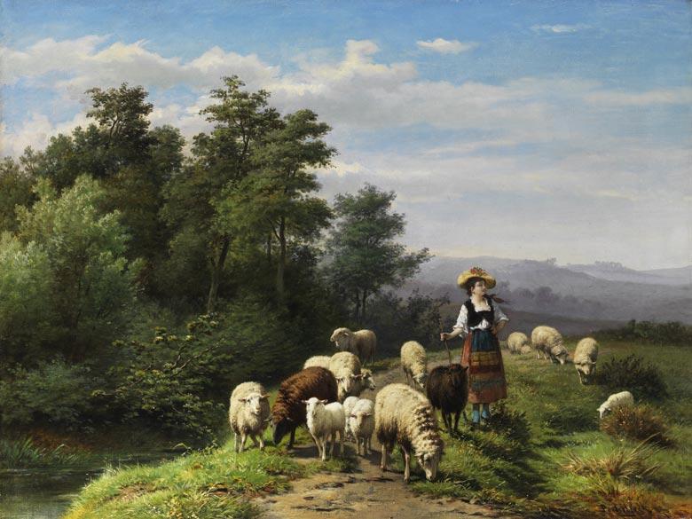 Jan Frederik Pieter Portielje, 1829 - 1908, und Franz Lebret, 1820 – 1909