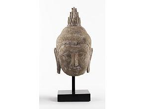 Detail images:  Buddhakopf in Stein