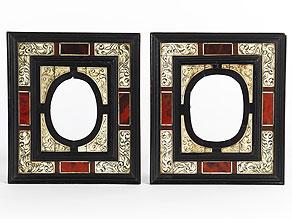 Detail images:  Paar kleine Frühbarock-Rahmen