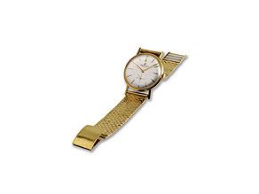 """Detail images:  Herrenarmbanduhr 18 kt, bezeichnet """"Breitling Geneve"""""""