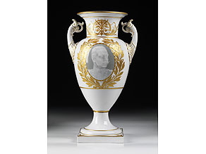 Detail images:  KPM-Amphorenvase mit Portrait Kaiser Wilhelms II.